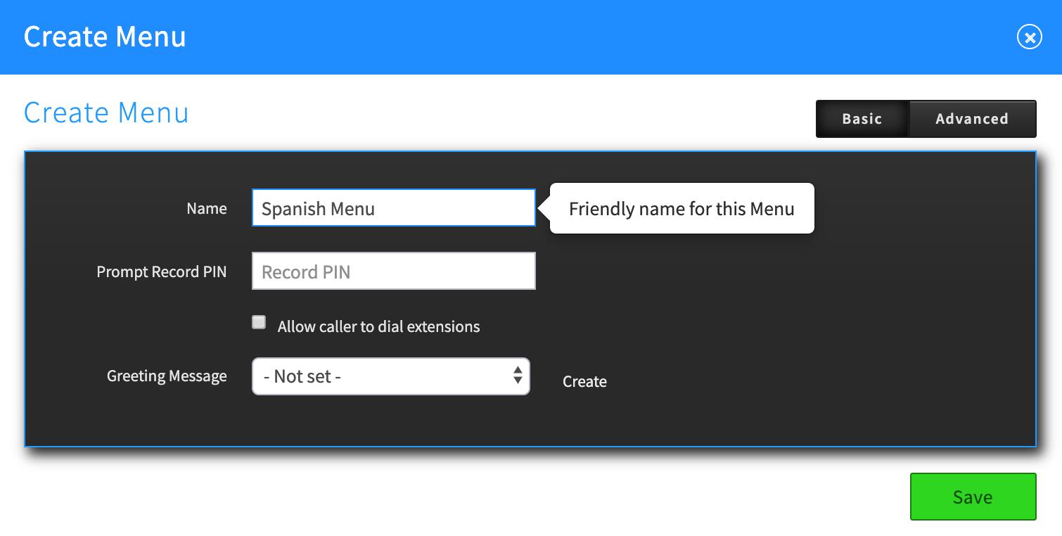 Virtual Recept Callflow create menu.png